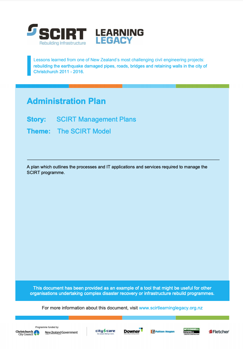 Administration Plan Cover