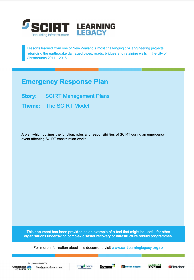 Emergency Response Plan Cover