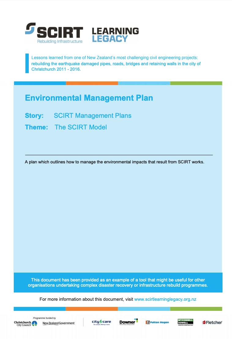 Environmental Management Plan Cover