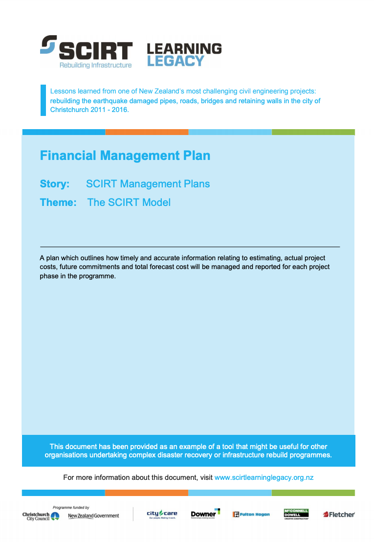 Financial Management Plan Cover