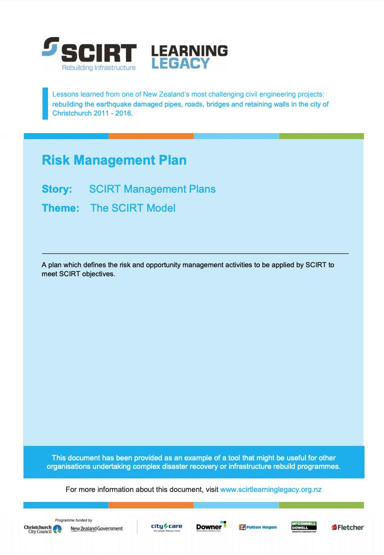 Risk Management Plan Cover