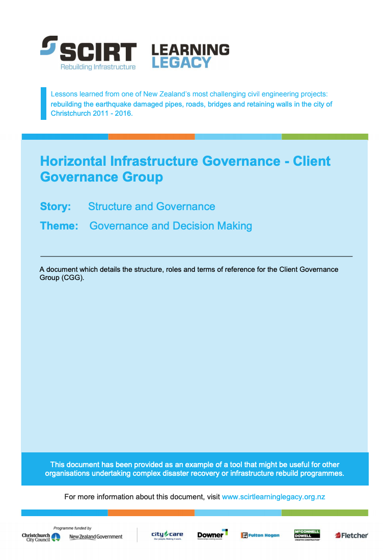 Horizontal Infrastructure Governance - Client Governance Group Cover