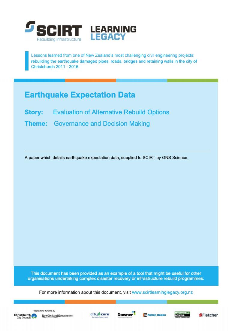 Earthquake Expectation Data Cover