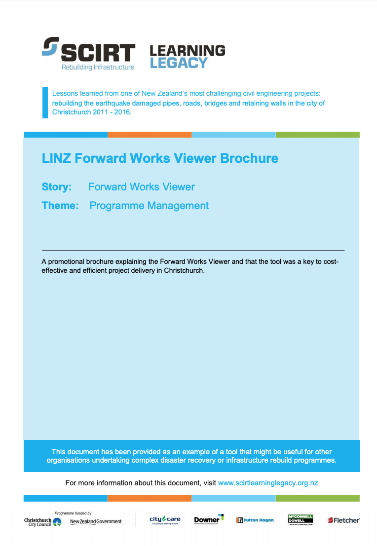 LINZ Forward Works Viewer Brochure Cover