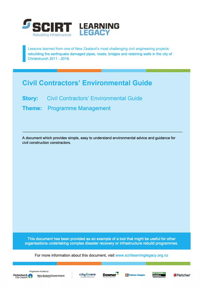 Civil Contractors' Environmental Guide Cover