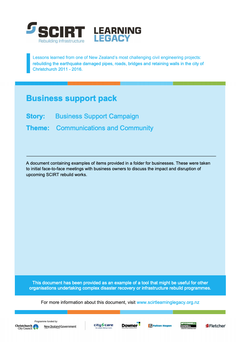 Business support pack Cover