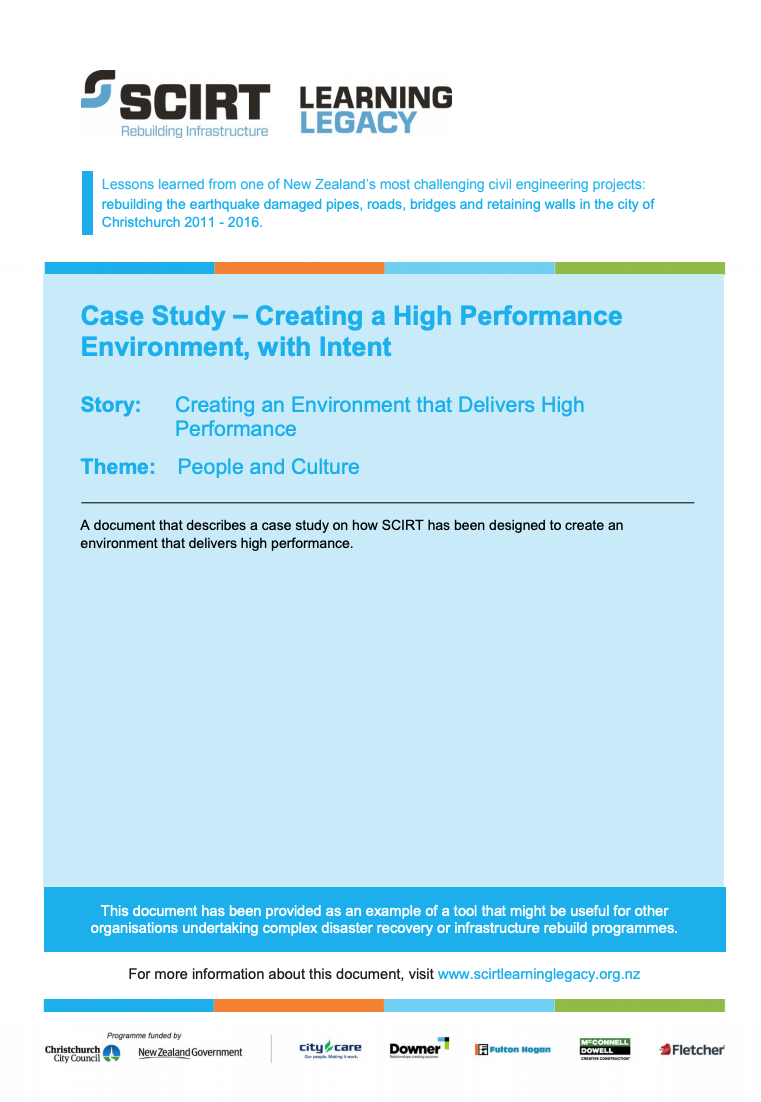 Case Study: Creating a High Performance Environment, with Intent Cover