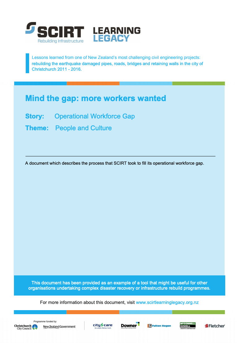 Mind the gap: more workers wanted Cover