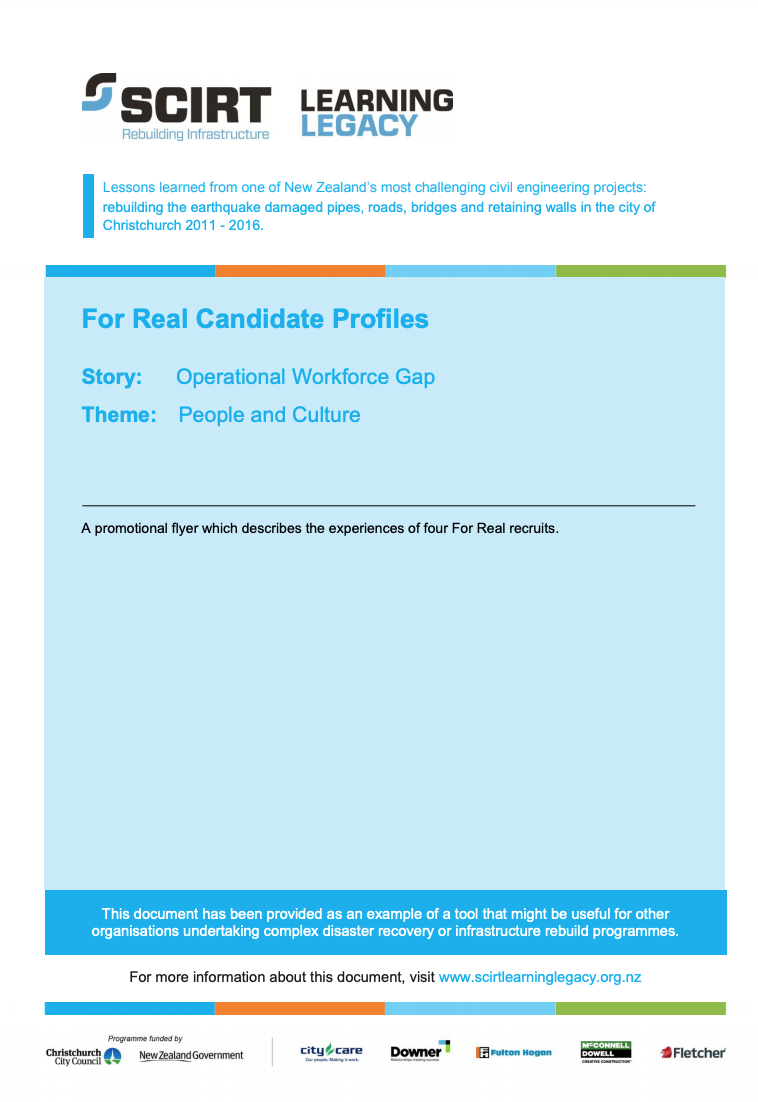 For Real Candidate Profiles Cover