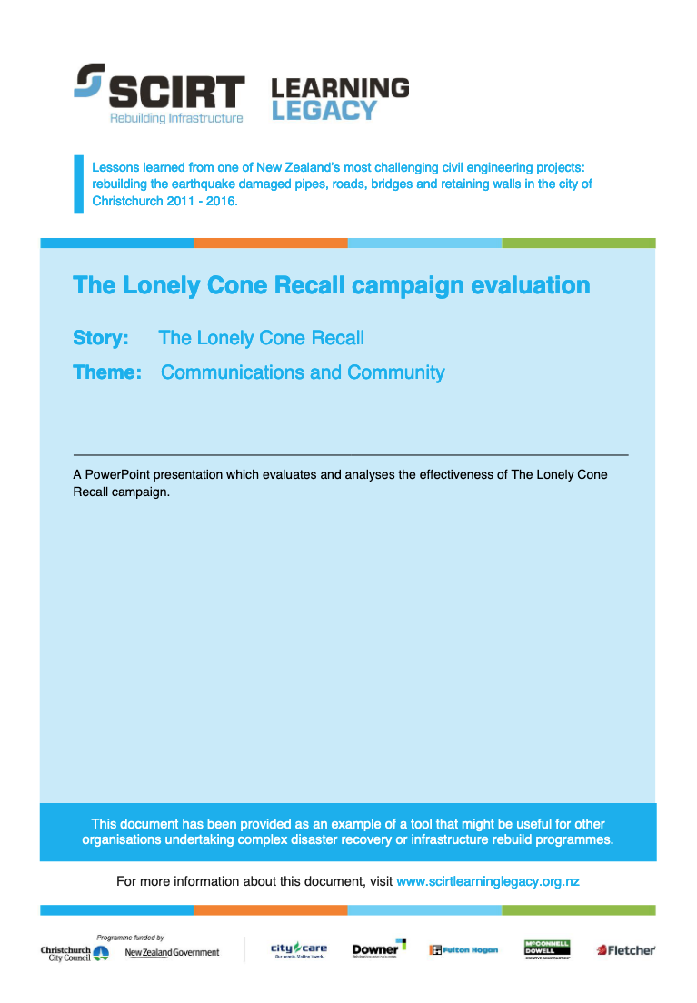 The Lonely Cone Recall campaign evaluation Cover