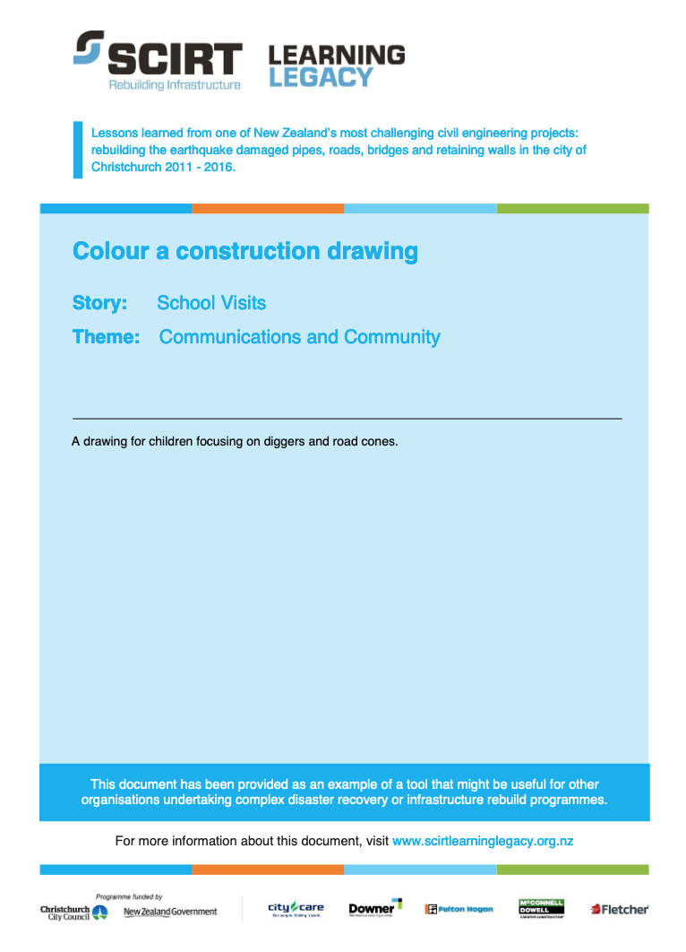 Colour a construction drawing Cover