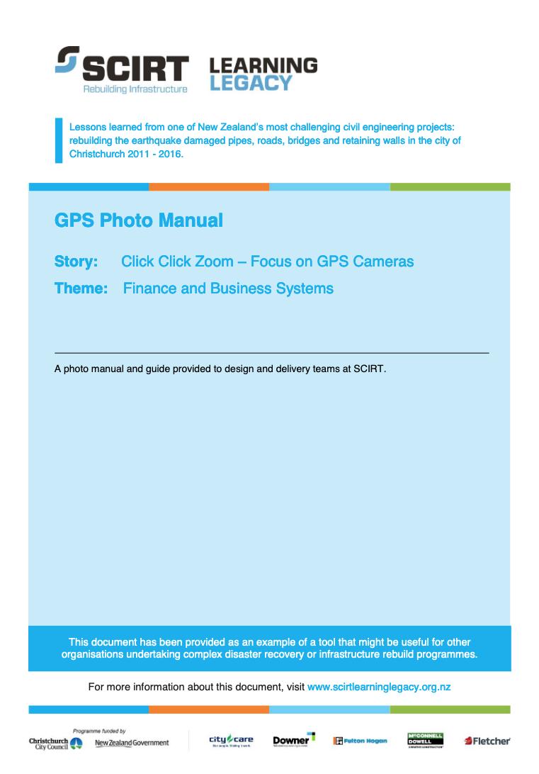 GPS Photo Manual Cover