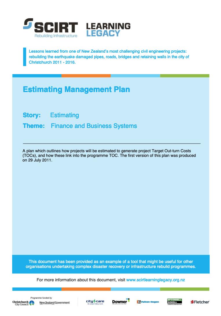 Estimating Management Plan Cover