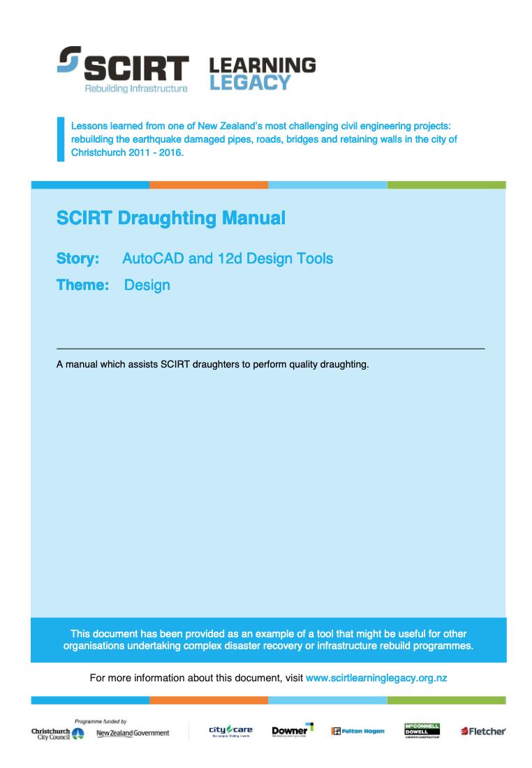 SCIRT Draughting Manual Cover
