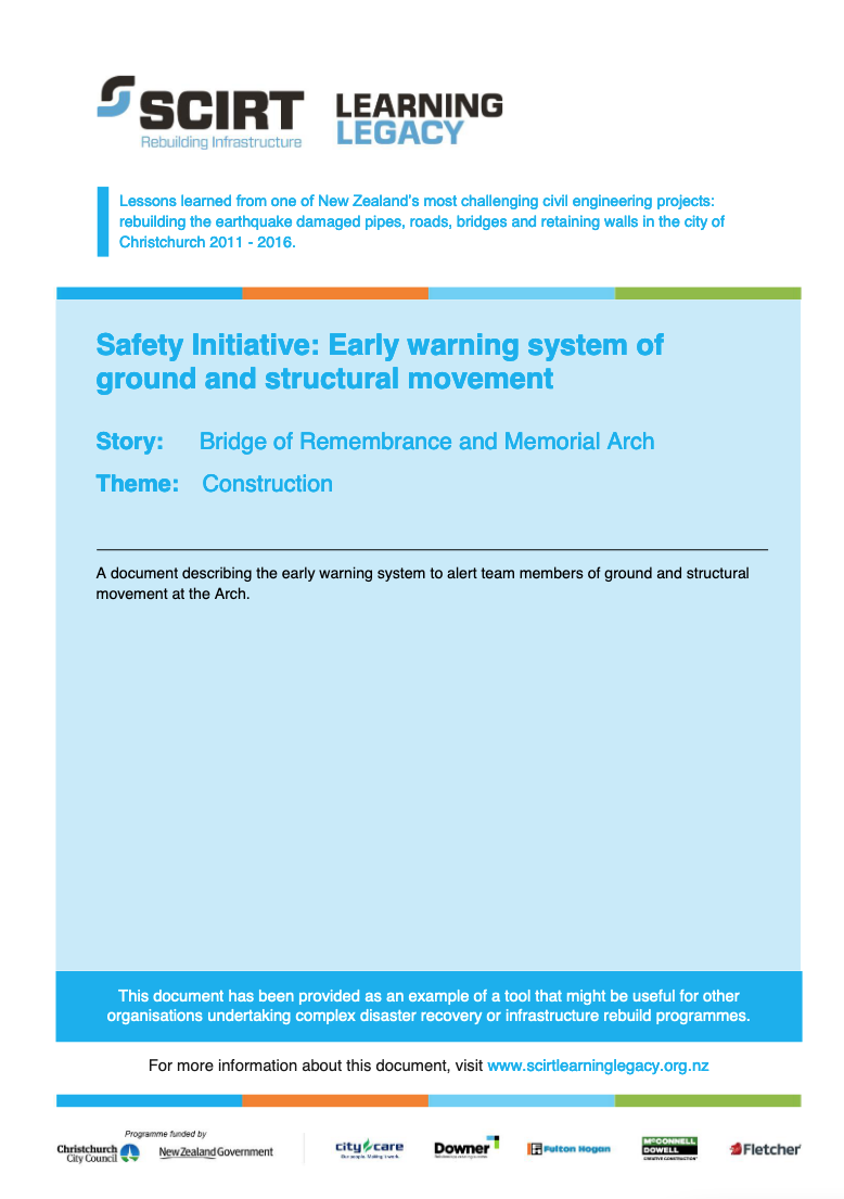 Safety Initiative: Early warning system of ground and structural movement Cover