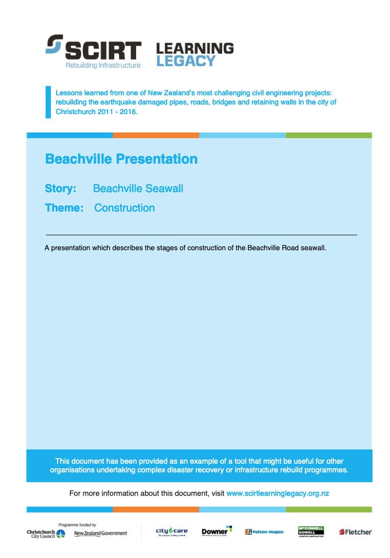 Beachville Presentation Cover