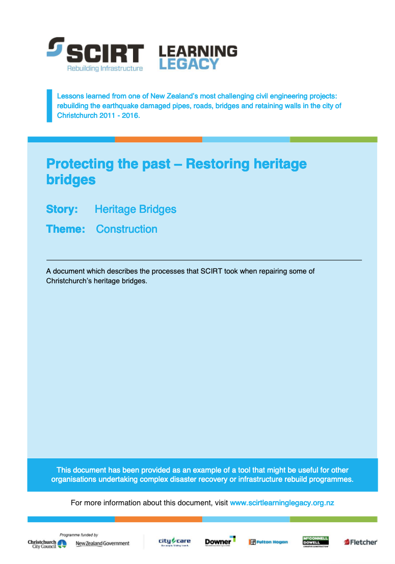 Protecting the past - Restoring heritage bridges Cover