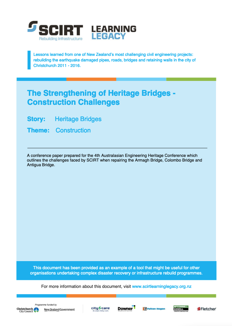 The Strengthening of Heritage Bridges - Construction Challenges Cover